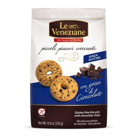 Biscuiti cu bucati de ciocolata fara gluten x 250g Le Veneziane