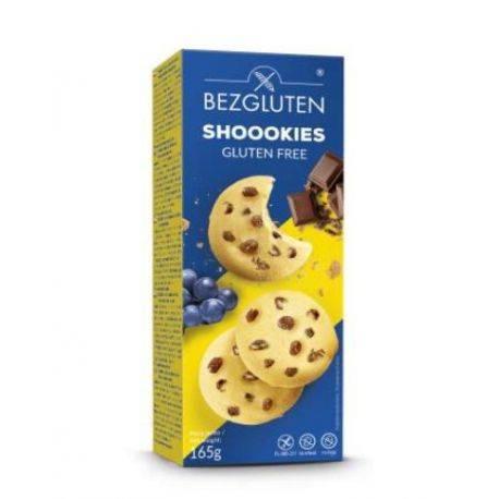 Biscuiti cu ciocolata si stafide fara gluten x 165g Bezgluten